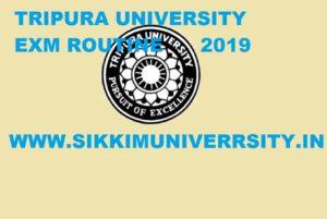 Tripura University Exam Schedule 2020, Tripura University BA BSC BCOM Routine 2020 1