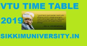 VTU timetable 2020 - B.Arch B.Tech/BE Downlad @vtu.ac.in 1