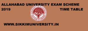 Allahabad University BA 1, 2, 3rd Year Time Table 2020 - UOA BA Ist, 2nd, 3rd Year Exam Date sheet 1