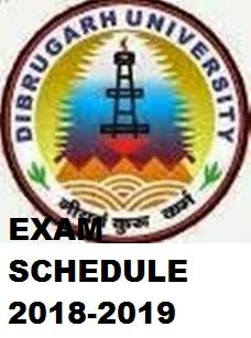 Dibrugarh University Exam Schedule 2019-20 for Part 1/2/3