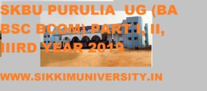 SKBU Exam Schedule Time Table 2020 Part 1, 2, 3rd Year 1