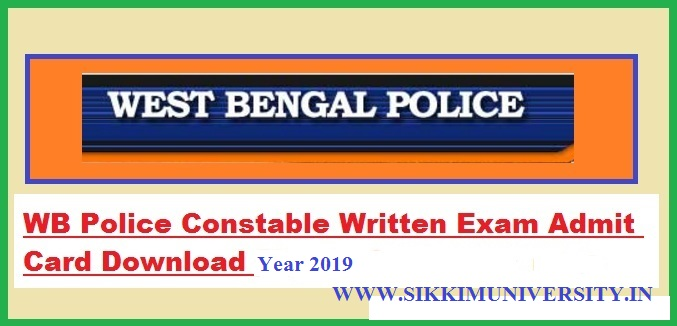WB Police Constable Admit Card 2019 www.wbpolice.gov.in Lady Constable Exam Date WBP 1