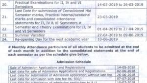 Andhra University Degree Sem. Time Table 2019-20, AU BA BSC BCOM ODD/EVEN Sem Datesheet 2020 2