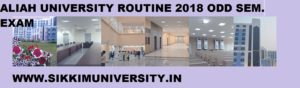 Aliah University Sem. Exam Date 2018 Download AUAT PG/UG ODD Sem Schedule/Routine 1