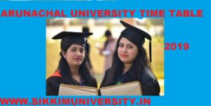 Arunachal University Time Table 2020, Download Date sheet 1