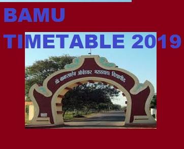 BAMU Sem. Time Table 2019-20 - BSC BA BCOM Part 1/ 2/ 3 ( 1/3/5 Sem) Exam Date 2019-20 1
