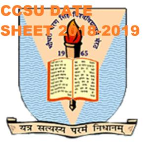 CCSU Sem. Time Table 2019-20, CCS University BA BSC BCOM MA Exam Date sheet PDF 1