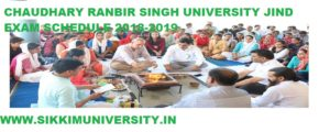 CRSU Semester Time Table 2019-20, Chaudhary Ranbir Singh University, Jind Date Sheet 2019 1