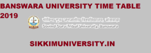 GGTU Time Table 2020 for Ist, 2nd, 3rd Year BA BCOM BSC MA Exam Date 1