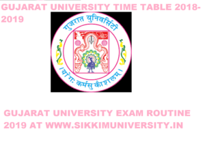 Gujarat University Time Table 2019-20 for 1/3/5 Sem BCOM BA BSC Exam