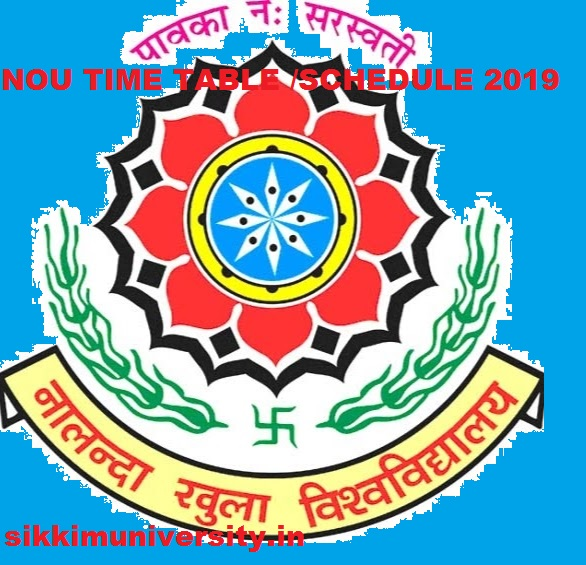 Nalanda Open University Exam Schedule 2019 Part Ist,2nd, 3rd