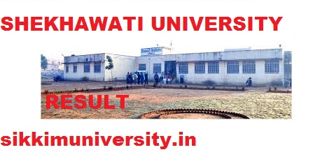 Shekhawati University BED Part I, II Year Result 2020  Name & Roll Number Wise 1