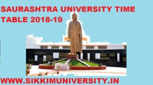 Saurashtra University Time Table 2019-2020, BA BCOM BSC MA Part Ist, 2nd, 3rd Exam Date 1