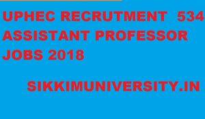 UPHESC सहायक प्रोफेसर Recruitment 2018 - UPHESC 534 Assist Professor Notification at Uphesc.org 1