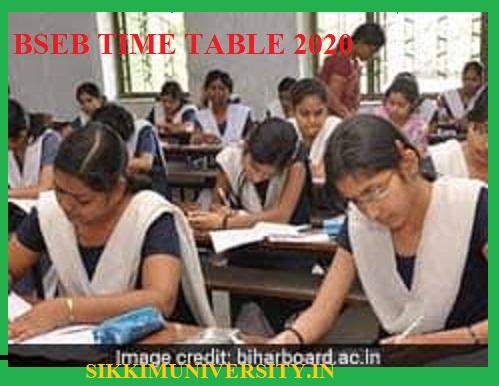 Bihar Board Annual Exam Date 2020 BSEB 12th 10th (Intermediate/Matric) Exam Schedule/Routine 1