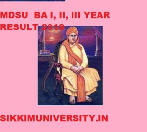 MDS University Ajmer BA 2nd & 3rd Year Result 2021 Roll No. Wise and Name Wise @mdsuexam.org 1