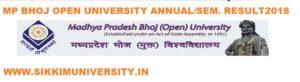 MP Bhoj Open University Annual/ Sem. Results 2021 BSC BCOM BA Degree Result 1