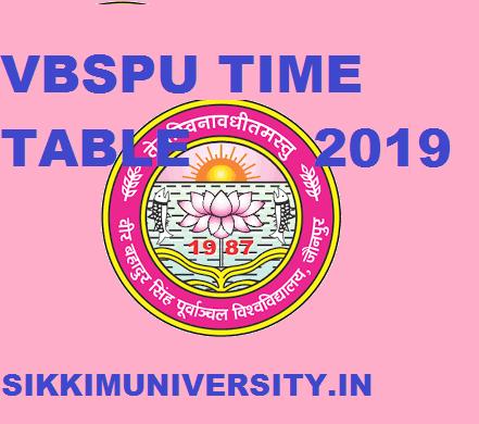 VBSPU BA I, II, III Time Table 2020 - Purvanchal University BA Ist, 2nd, 3rd year exam Schedule 2020 1