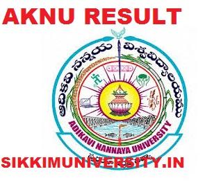 AKNU 1/3/5 Sem. Results 2020 - Adikavi Nannaya University I,III,V Sem Result 2020 1