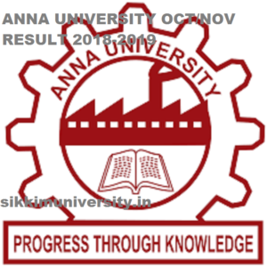 Anna University Result 2018-2019 Coe1.annauniv.edu, PG/UG  1/3/5 November/December Results 1