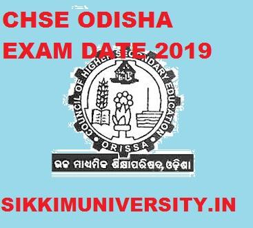 CHSE Odisha +II Exam Date 2020; Odisha CHSE +2 Exam Dates Notification Out 1