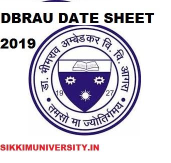 DBRAU BA Ist, 2nd, 3rd Year Date sheet 2021, Agra University BA Exam Date /Schedule 2021 1