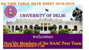 DU Time Table 2019-20 | Delhi University Part Ist, 2nd, 3rd Year  BA BCOM BSc  Exam Schedule 1