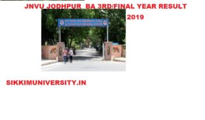 JNVU BA 3rd Year Regular/Private Results 2020  BA Final Year Name Wise Result 1