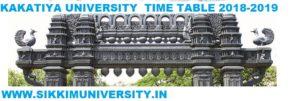 Kakatiya University Degree Sem. Time Table 2020, KU Warrangal  UG/PG/Degree Date sheet 2020 1