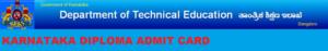 Karnataka Diploma Admit Card Nov/Dec 2019, DTE Polytechnic 1/3/5 Sem Hall Ticket Odd Sem 1