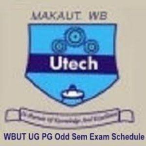 MAKAUT Exam Schedule 2020-21 for 1/3/5/7 Sem Exam Routine 1