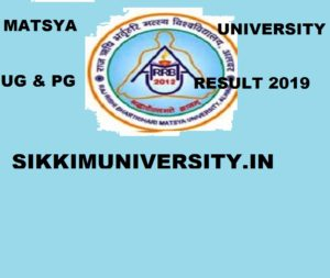 Matsya University Result 2019 Part Ist, 2nd, 3rd Year UG & PG Exam