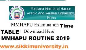 MMHAPU Alim Part I, II, III Exam Date 2020,  Bihar Alim Fazil 1, 2, 3 Exam Routine/Time Table 1