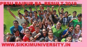 PRSU BA Ist, 2nd, 3rd Year Results 2020, Raipur University BA 1, 2, 3, Year Results at prsuuniv.in 1