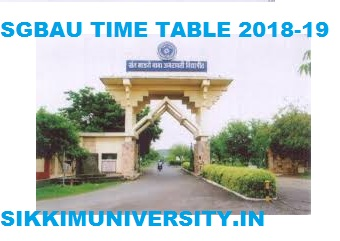 SGBAU BA Time Table 2020 Amravati University  BA I, II, III Year Winter Exam Schedule Download 1