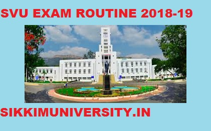 SV University Degree Exam Schedule 2020, SVU PG/UG Exam Routine  Download 1