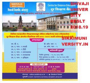 Shivaji University Sem. Results 2021 FY TY SY BA BCOM BSC Exam March/April 1