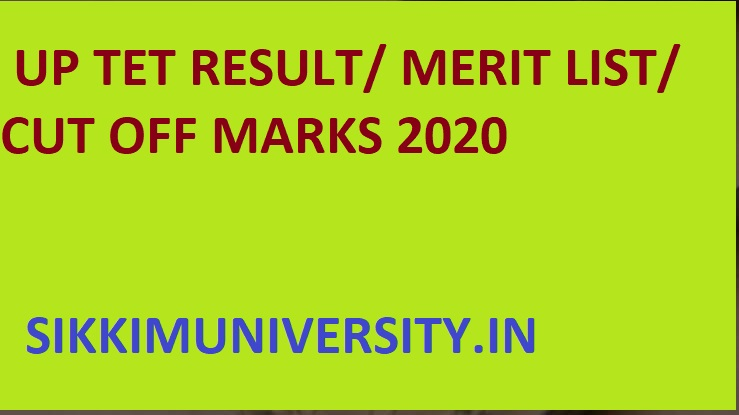 Upbasiceduboard.gov.in : UP TET Result/Merit List 2020 - UP TET Paper Ist and 2nd Result/Cut Off Marks 2020 Available 1