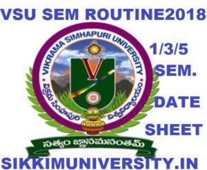 VSU Degree Exam Schedule Nov/Dec 2020 - Vikrama Simhapuri University 1/3/5 Sem Time Table 2020 1