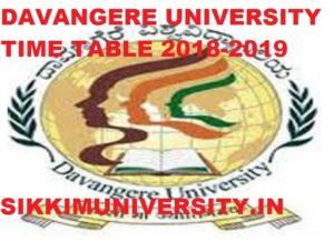 Davangere University Date sheet 2020 - BA, MA, BSC, MSC, B.Com, MCOM Time Table 2020 1