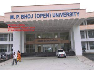 Bhoj Open University Result 2021 Part I, II, III BA BSC BCOM 1