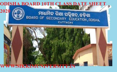 Odisha HSC Date sheet 2021, Www.bsodisha.ac.in, Orissa Board 10th Class Exam Time Table 1