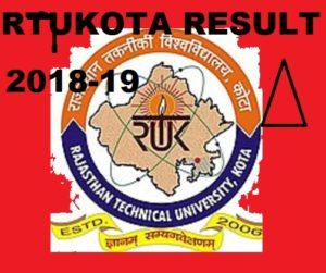 RTU BTECH 3rd/4th Semester (Back & Main) Result 2020 1
