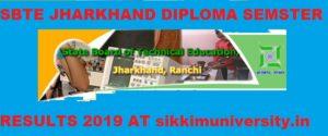 SBTE Jharkhand Diploma Sem. Result 2019-20 Polytechnic Sem. Wise Results 1