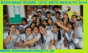 Rajasthan Board परिणाम /Results:: Sr. Secondary (Arts) Examination, 2020 1