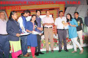 Berhampur University Exam Schedule 2020 BA BSC BCOM Ist, 2nd, 3rd Year  Degree Result 1