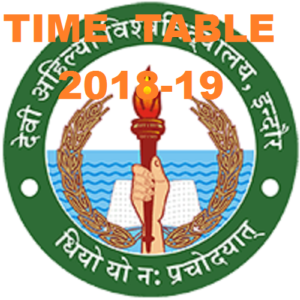 DAVV Ist, 3rd, 5th Sem  Time Table 2019-2020, Indore
