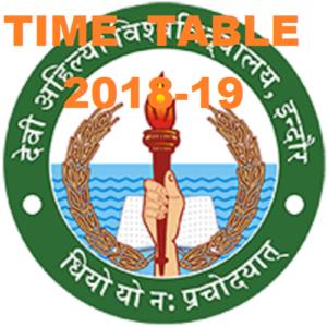 DAVV Ist, 3rd, 5th Sem. Time Table 2021, Indore University BA BSC BCOM Odd Sem Exam Date 1
