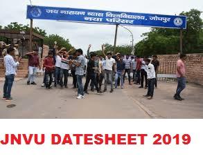 JNVU BSC Date sheet 2020 - Jnvuonline.co BSC Part Ist,2nd,3rd Year Exam Schedule 2