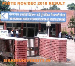 PSBTE 1/3/5 Sem Results Nov/Dec 2018-19 - Punjab Diploma Result 2019